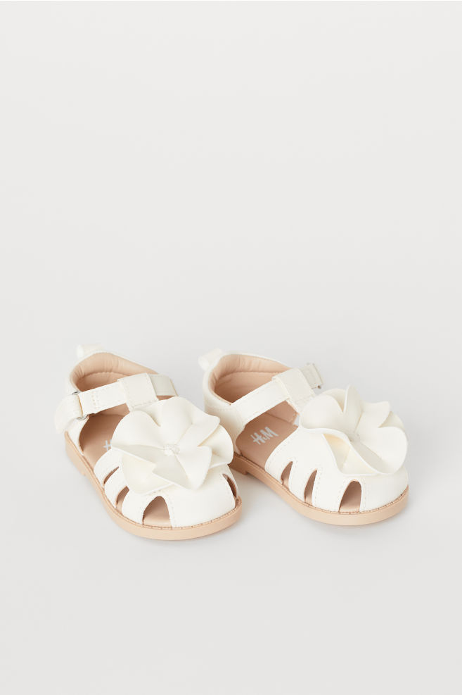 Sandals - White - Kids   H\u0026M US   Girls