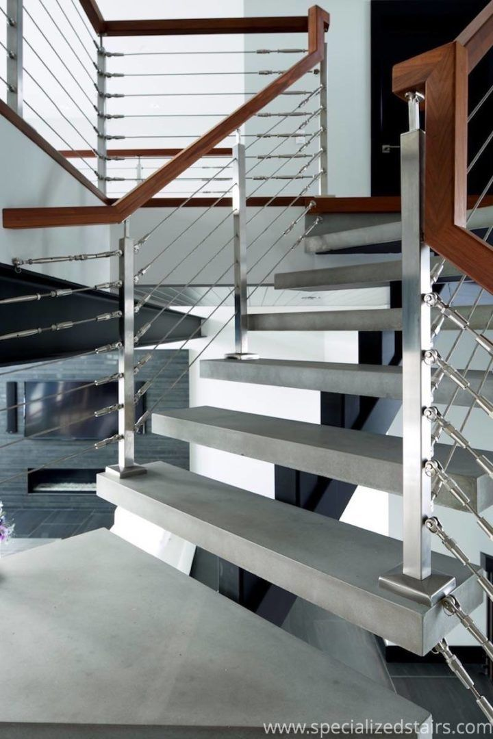 Best Pin On Steel And Concrete Mono Stringer Staircase 400 x 300