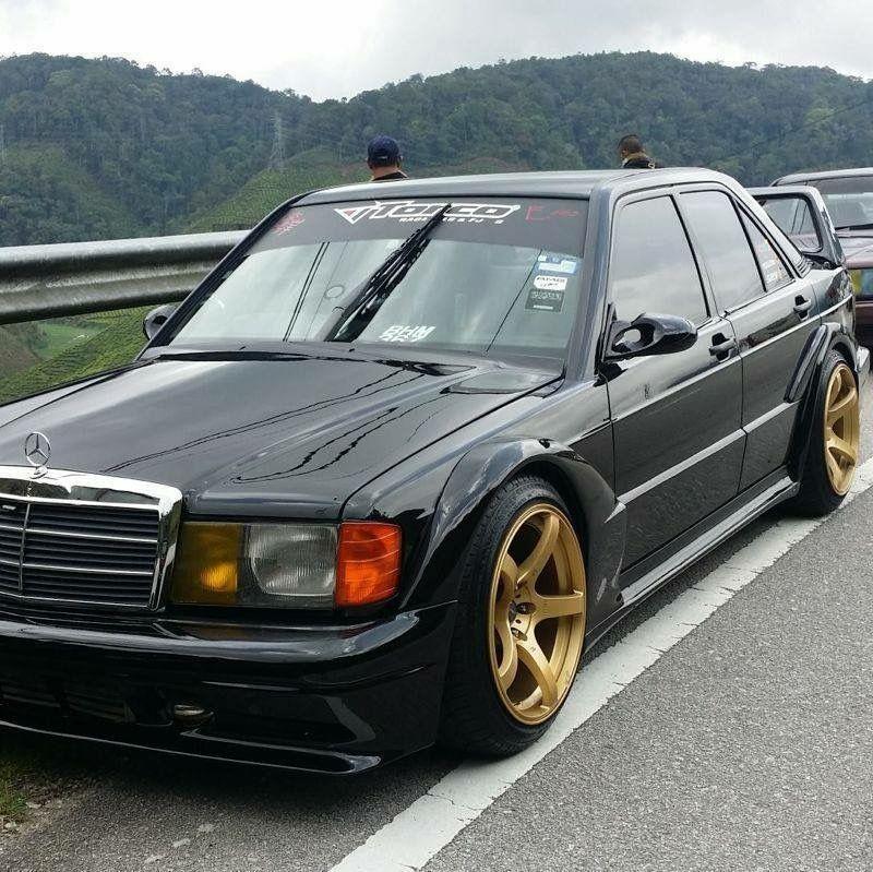 #Mercedes_Benz #190E #Modified #Slammed #Stance