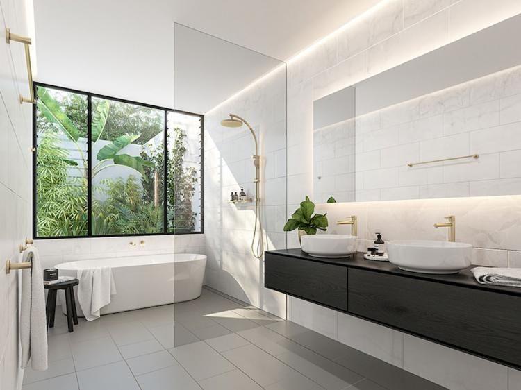 75+ MAJESTIC FARMHOUSE MASTER BATHROOM DESIGN IDEAS #farmhousedecor # Bathroom #bathroomideas