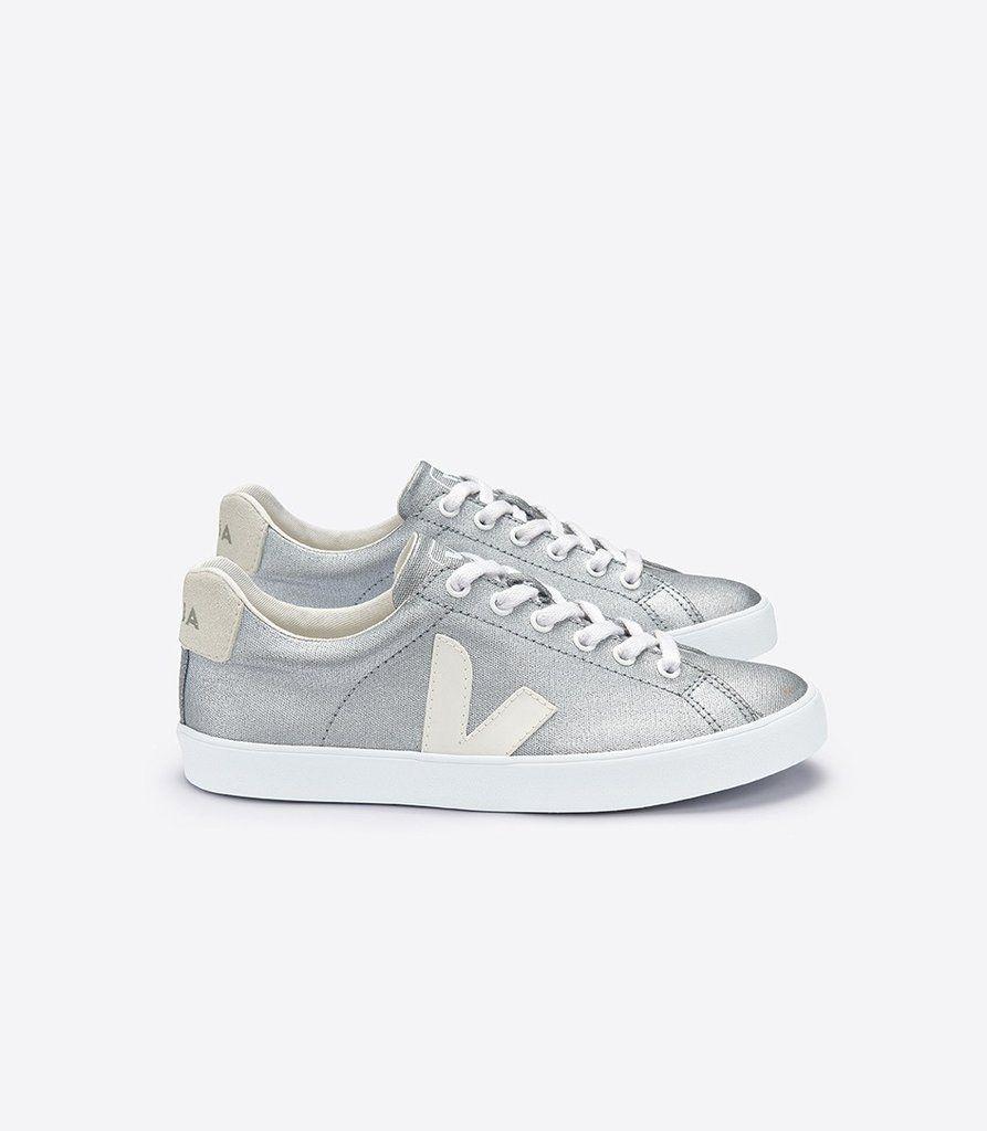Women's Esplar Sneaker in Silver Canvas