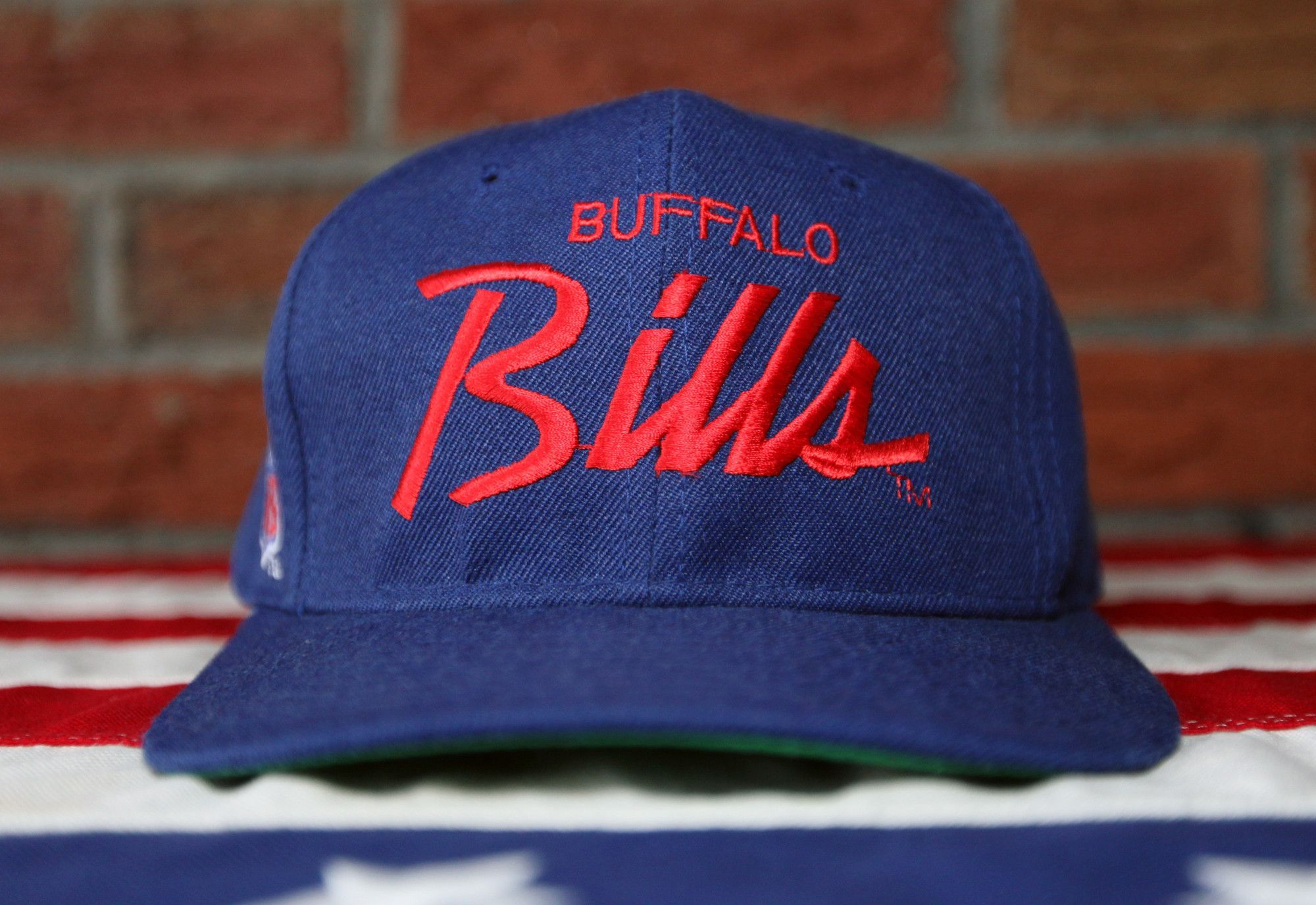 9eb75cf9d87 Vintage 90 s Buffalo Bills Sports Specialties Single Line Script The Pro  Wool Snapback Hat