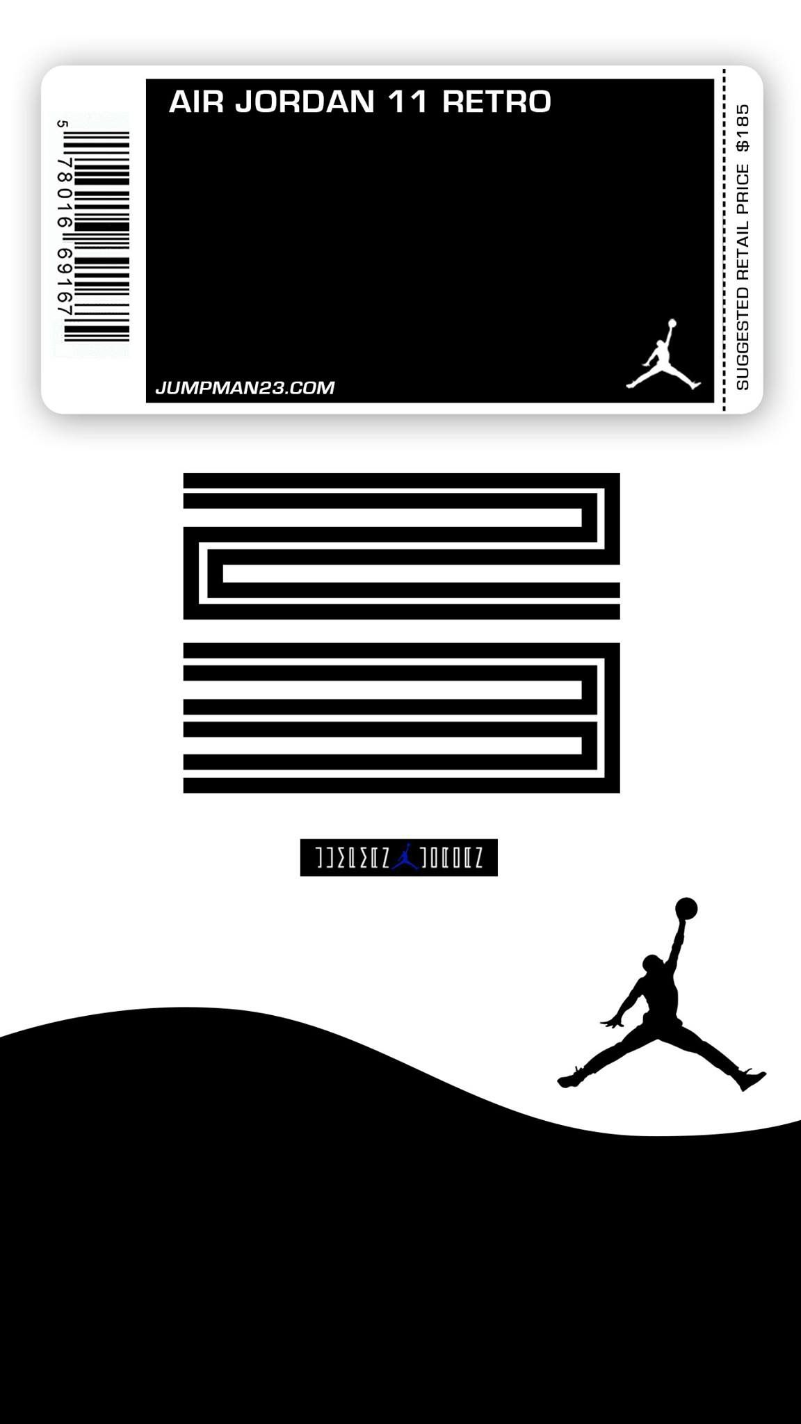 Wallpaper iphone jordan - Jordan 11 Concords Mobile Wallpaper