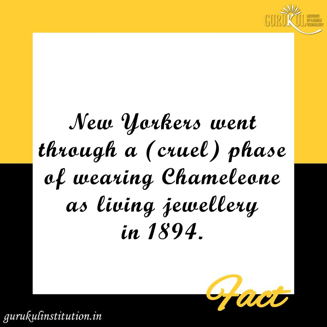 New Yorkers Went Through A Cruel Phase Of Wearing Chameleone As Living Jewellery In 1894 Am Jewelry Facts Technology Fashion Fashion Designing Institute