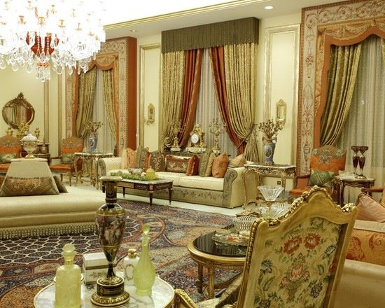 Arab style living room home decor pinterest living rooms room and mediterranean style for Arabian inspired living room