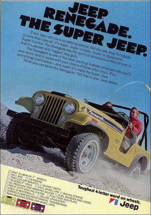 Jeep 1972 Jeep Renegade Jeep Jeep Cars