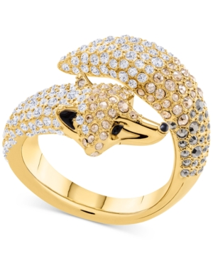 8be45e0168530 Swarovski Gold-Tone Pave Fox Bypass Ring - Light Multi | Products ...