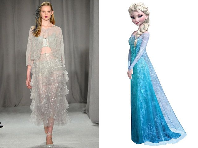 Marchesa has a dress for every Disney princess — Elsa, Frozen