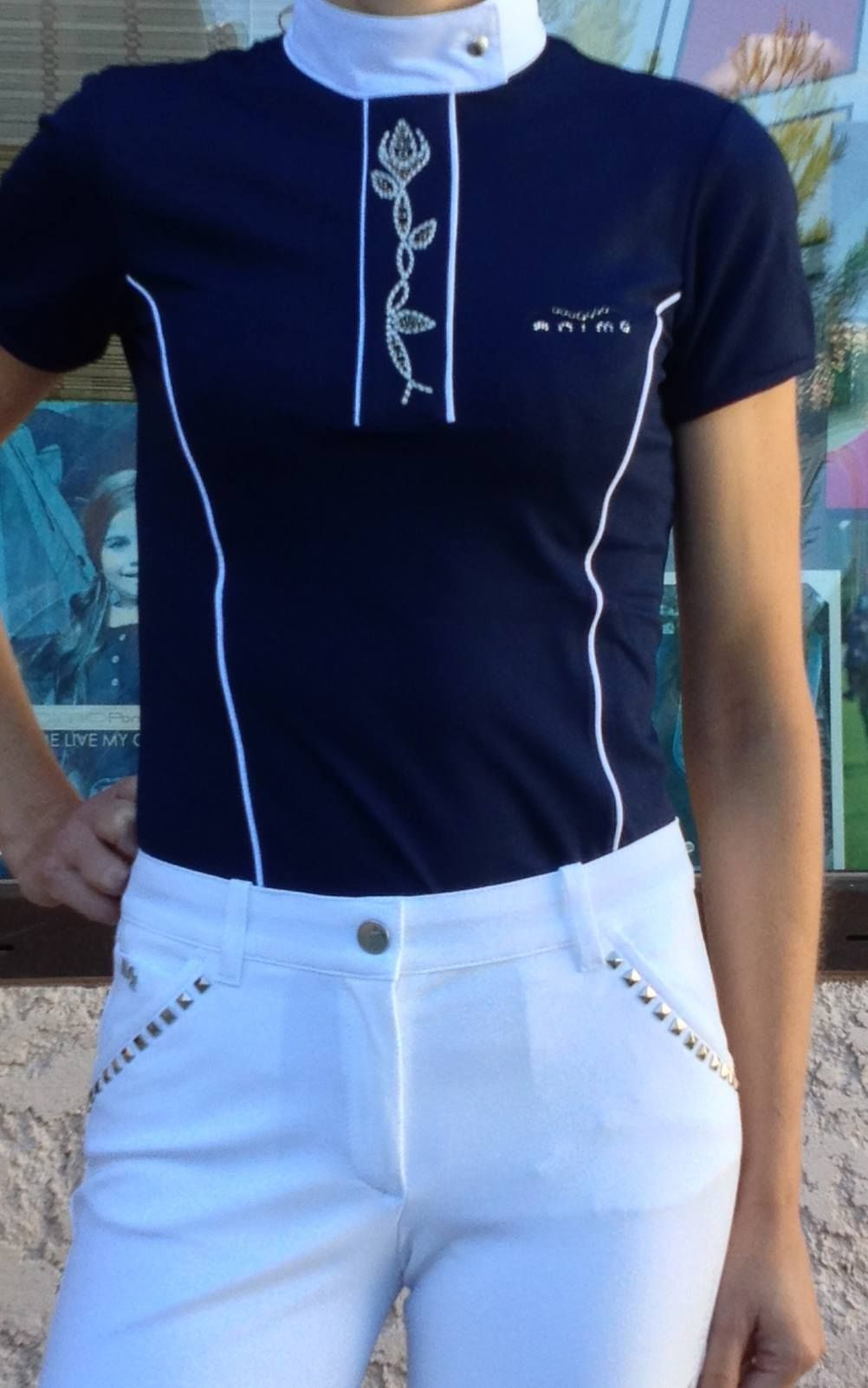 Equiline Competition Breeches Paired With An Animo Shirt