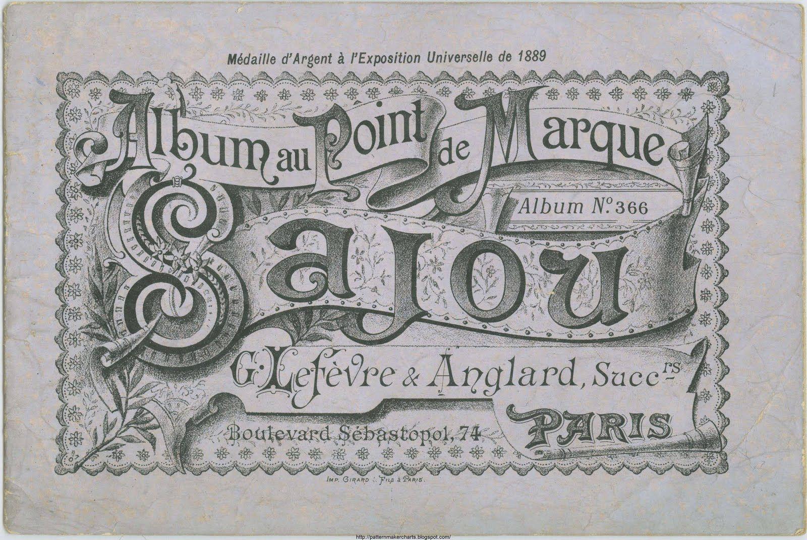 Free Easy Cross, Pattern Maker, PCStitch Charts + Free Historic Old Pattern Books: Sajou No 366