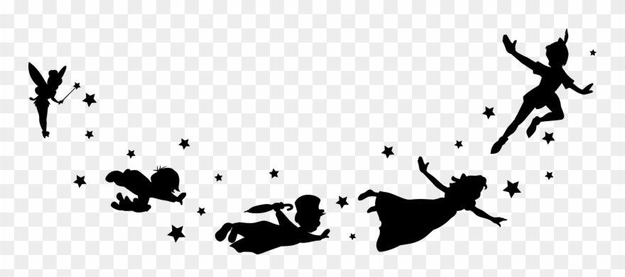 Download Hd Peter Pan And Friends Flying Peter Pan Flying Silhouette Png Clipart And Use The Free Clip Peter Pan Flying Peter Pan Silhouette Peter Pan Tattoo