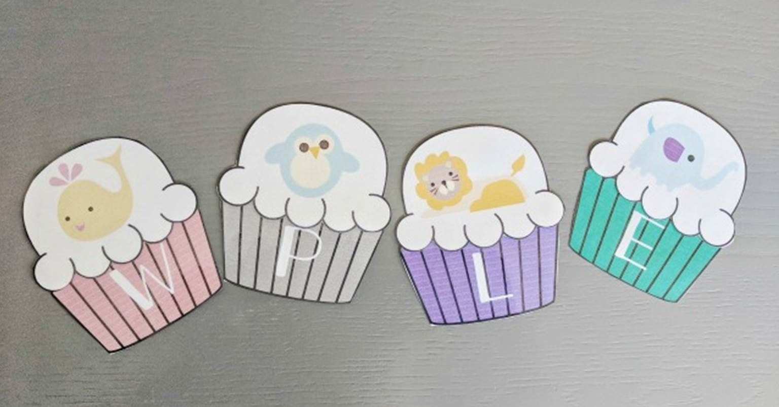 Animal Beginning Sounds Cupcake Matching Game