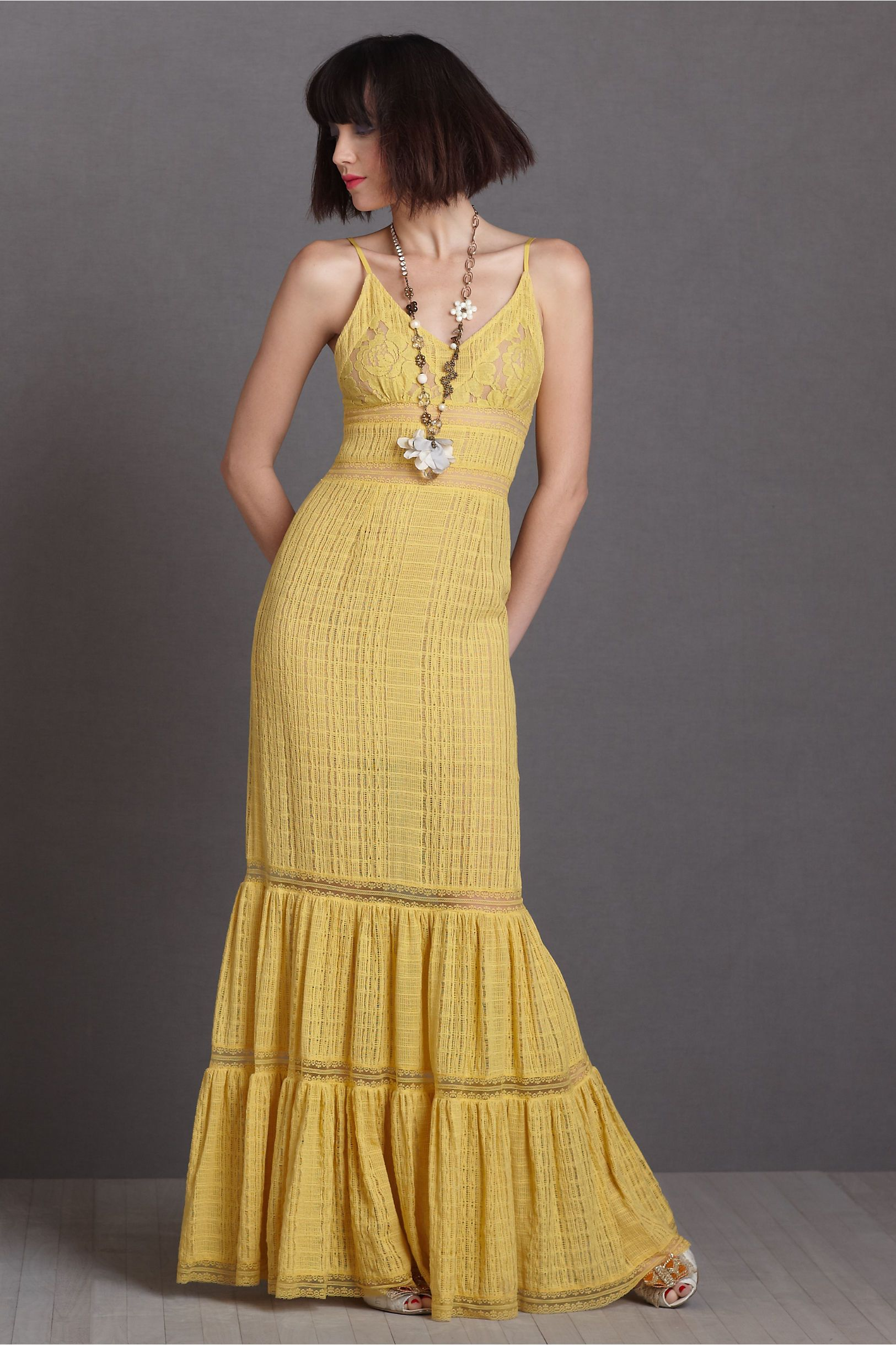 Yellow dress wedding guest  Spicy Ginger Dress in SHOP Bridesmaids u Partygoers Dresses at BHLDN
