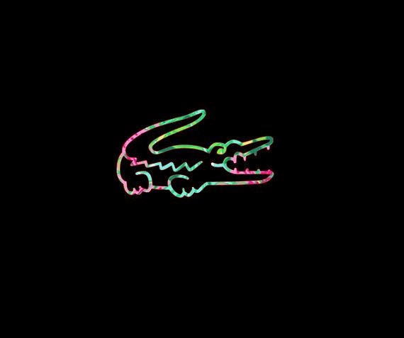 Preppy Alligator Patterned Vinyl Decal For Your Car Notebook