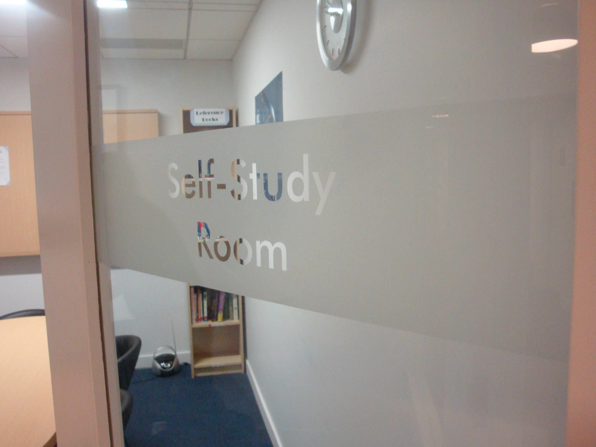 Frosted Vinyl Banding With Letters Knocked Out Clear Applied Onto Glass Door NYC