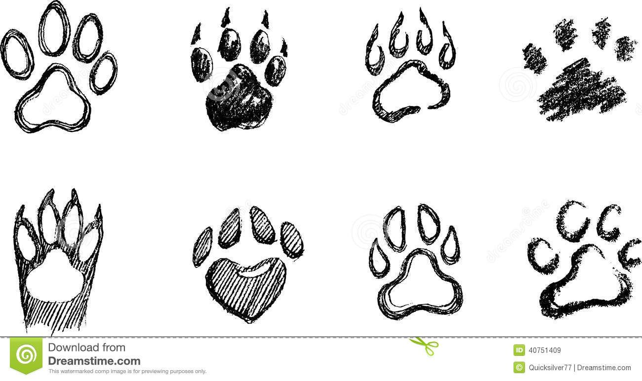 Draw A Dog Paw Print How To Draw A Paw Drawing Basics In 2019