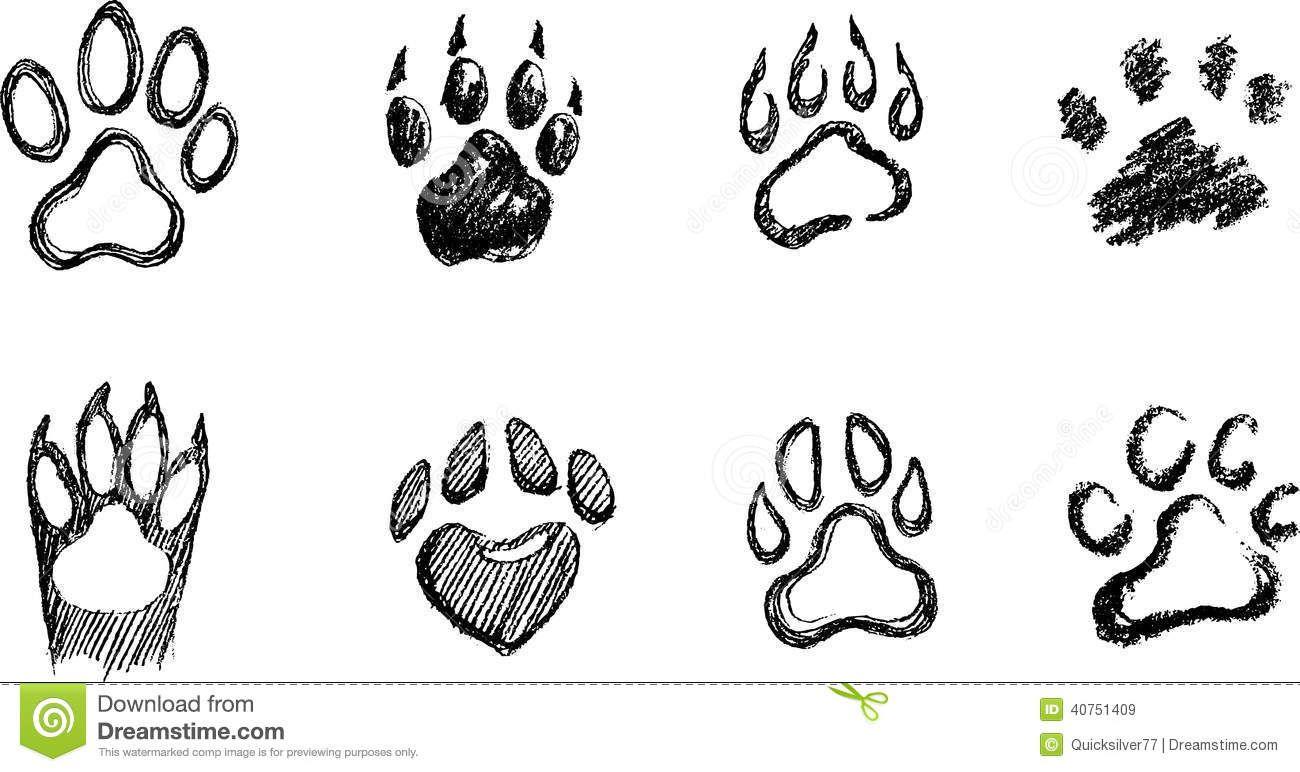 Draw A Dog Paw Print How To Draw A Paw Paw Sketch Dog Paw Drawing Paw Print Drawing