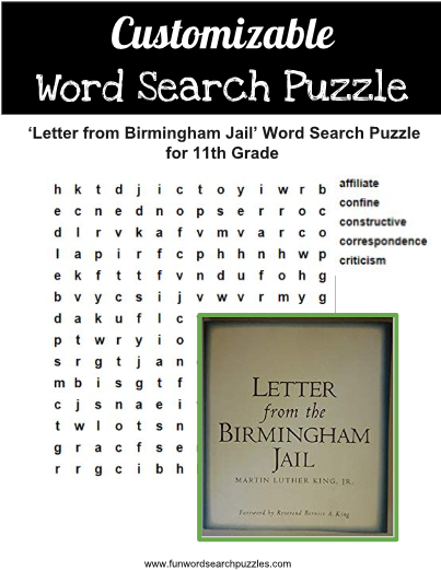Did your students read the famous 'Letter from Birmingham
