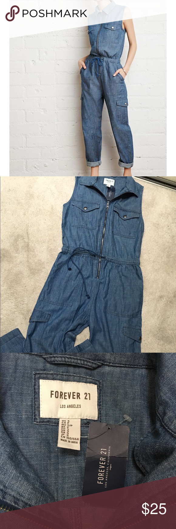 4abf9b00776 🎉Host pick🎉NWT Forever 21 Chambray Jumpsuit 🎉Host pick🎉  weekend wear