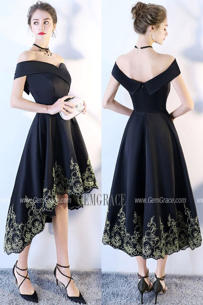 2018 Black Off Shoulder Prom Homecoming Dress High Low #BLS86097 at GemGrace. #HomecomingDresses Shop now to get $10 off. Pro custom-made service for wedding dress, formal dress. View Special Occasion Dresses,Homecoming Dresses,Cheap Homecoming Dresses,Short Homecoming Dresses,Black Homecoming Dresses,Off the Shoulder Homecoming Dresses,Sexy Homecoming Dresses for more ideas. Click to shop now!