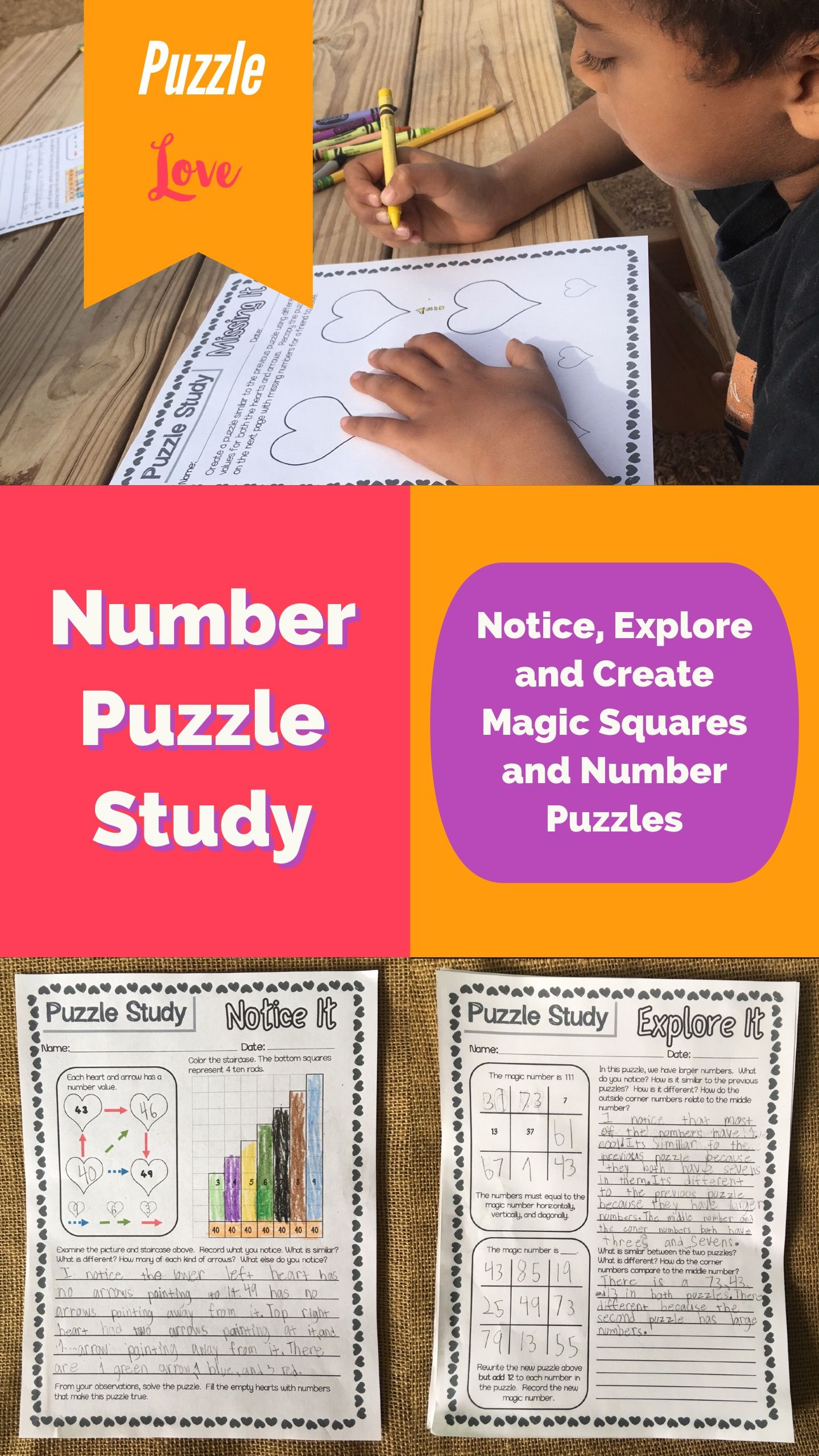 Magic Square Puzzle And Other Number Puzzle Study