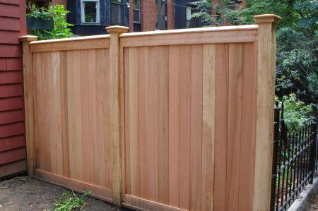 Simple Solid Fence With Finials Cedar Fence Cedar New