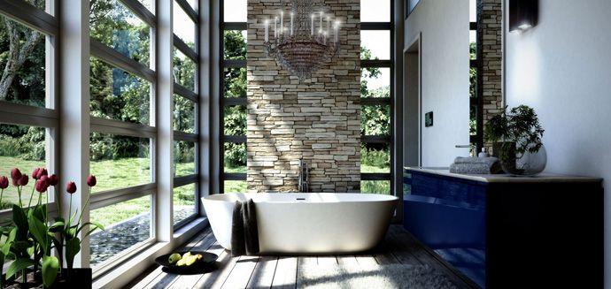 Exquisite! 40 Amazing Bathroom Designs That Fused with Nature
