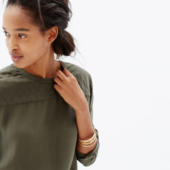 hint, hint – this Madewell silk quilted blouse is on my wishlist #giftwell