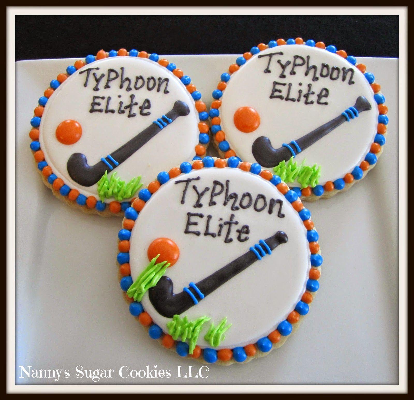 Nanny S Sugar Cookies Llc Cookies For A Field Hockey Team Field Hockey Hockey Birthday Cake Hockey Cakes