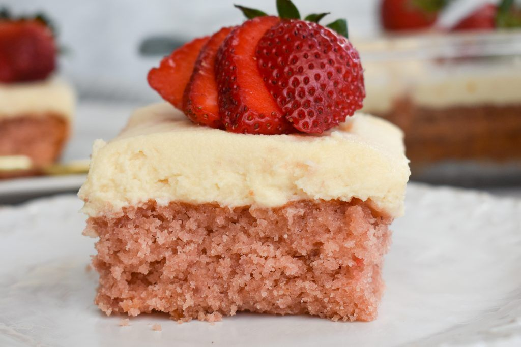 Fresh lowfodmap strawberry sheet cake using happy baking