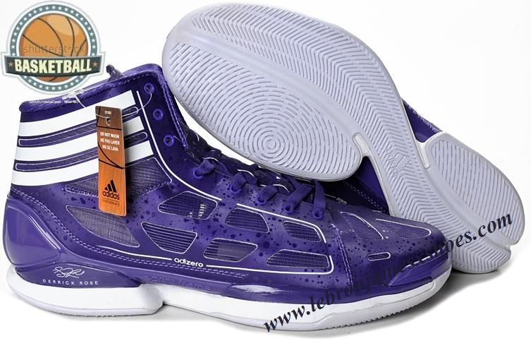 Adidas Adizero Crazy Light Derrick Rose Shoes Purple White
