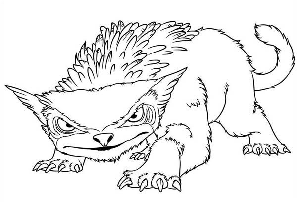 One of the Crossbreed Animal from the Croods Coloring Page