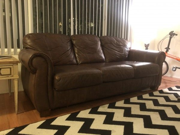 Large, Brown #Leather #Sofa for Sale #Furniture - #LosAngeles, CA at ...