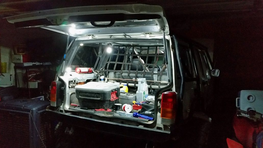 My Cargo Area After Wiring In All My Led Pod Lights