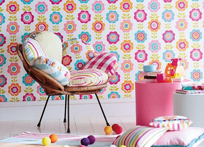 Papel pintado infantil-05 | Decoración habitación infantil ...