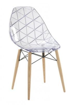 D couvrez fly wooden chaise fr ne blanc transparent sur mappyshopping chaise fauteuil - Chaise design fly ...