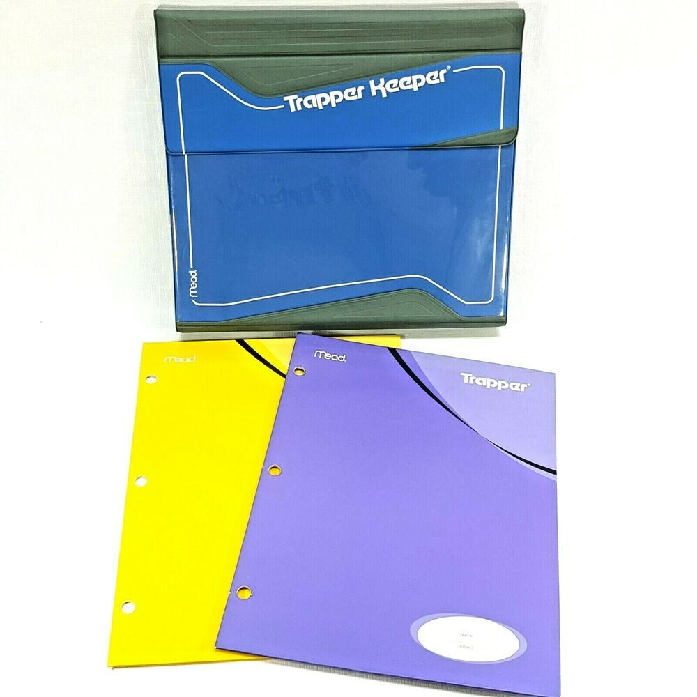 Vintage Blue Trapper Keeper By Mead Magnetic Closure 3