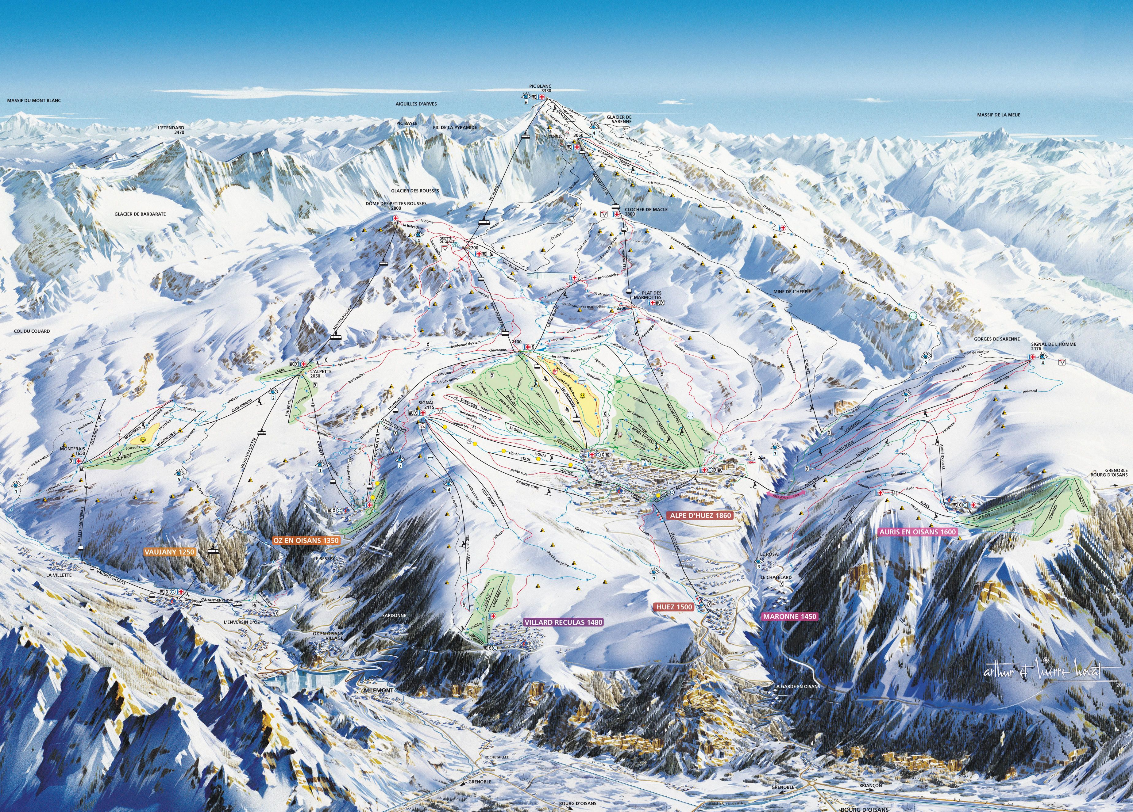 36 best Piste Maps 1617 images on Pinterest Cards Maps and Ski