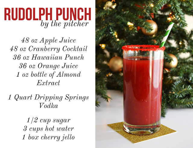 Christmas Drinks Party Ideas Part - 19: Rudolph Punch Christmas Christmas Recipes Alcohol Recipes Christmas Party  Ideas Christmas Drinks