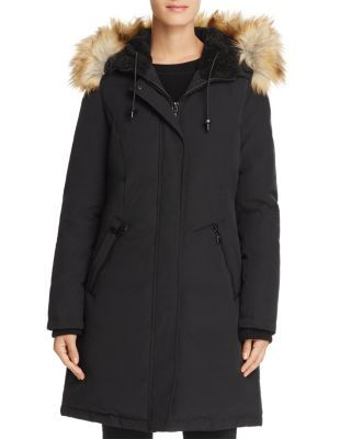 innovative design genuine shoes buy Vince Camuto Hooded Faux Fur Trim Parka - Black | Products in 2019 ...
