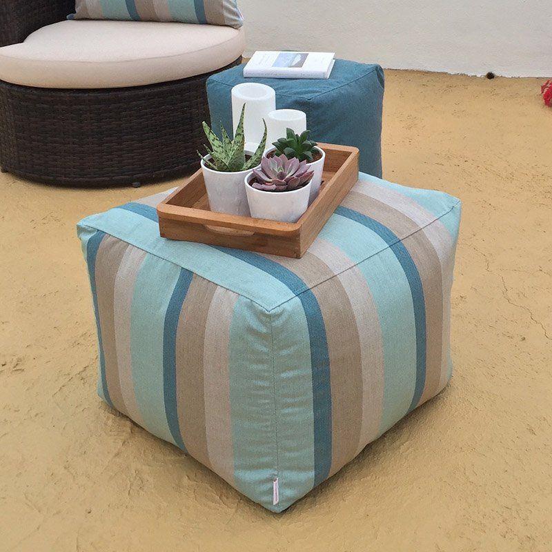Enjoyable Core Covers Outdoor Indoor 20 X 20 In Square Sunbrella Pouf Machost Co Dining Chair Design Ideas Machostcouk