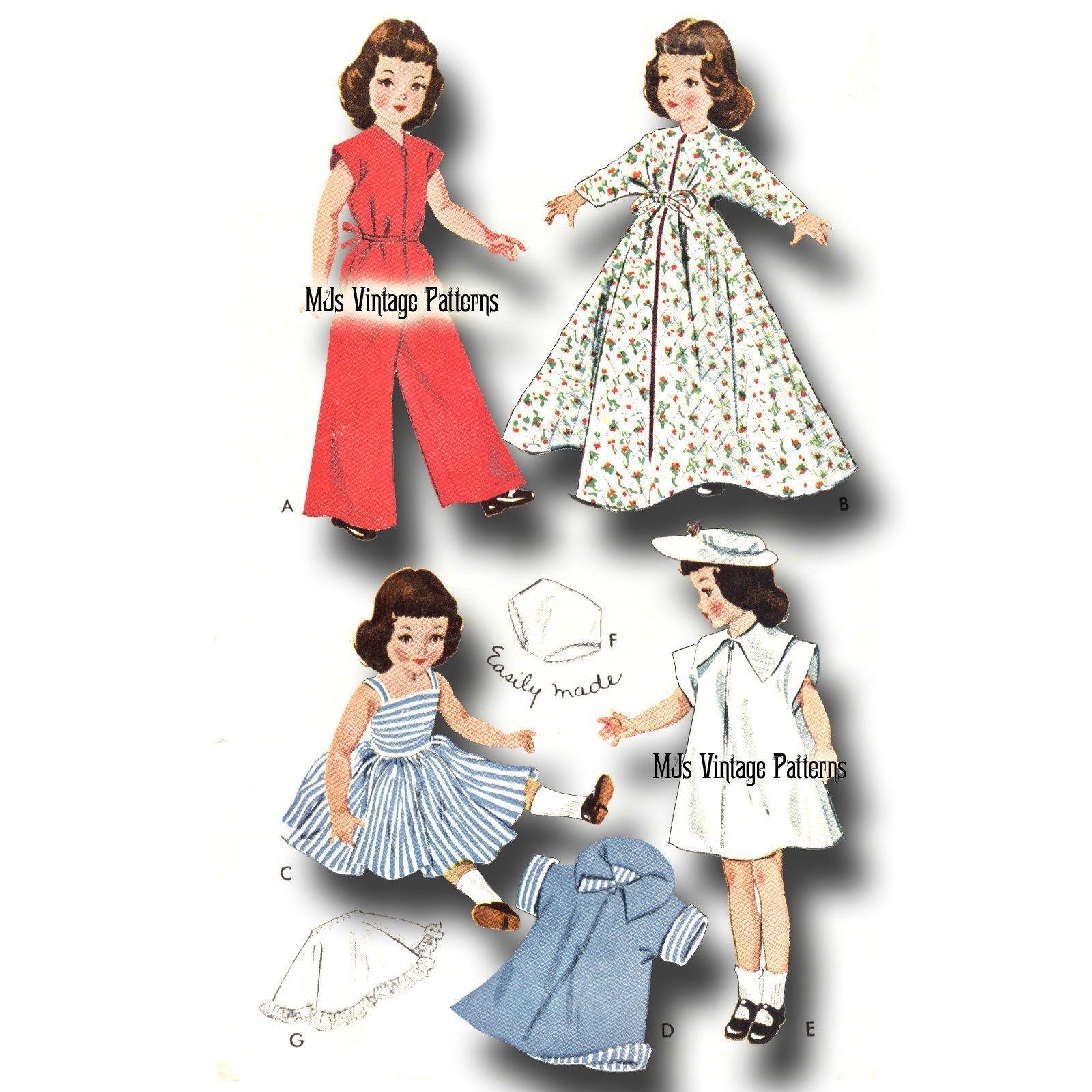 "Miss Revlon Sweet Sue Vintage Doll Play Clothes Pattern ~ 18/"" 19/"" Toni"