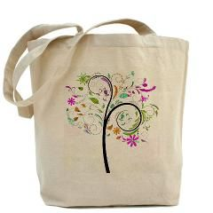Tote Bag for the Fancier Family Tree Enthusiast. 100% Cotton Canvas.