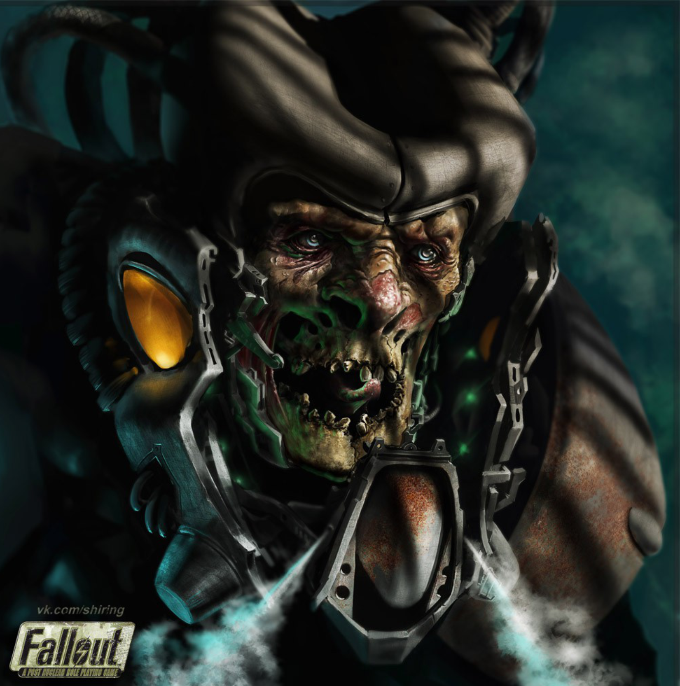 Without Mask by Gore-Shiring Fallout 2 fan-art capturing Frank