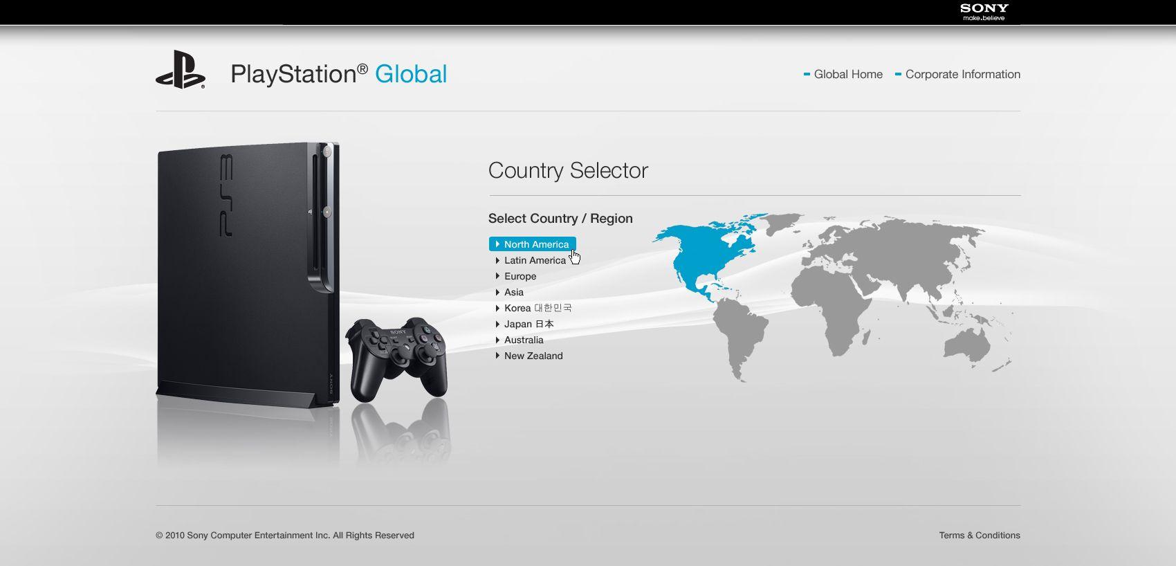 Www Playstation Com Page Design Terme Page Design
