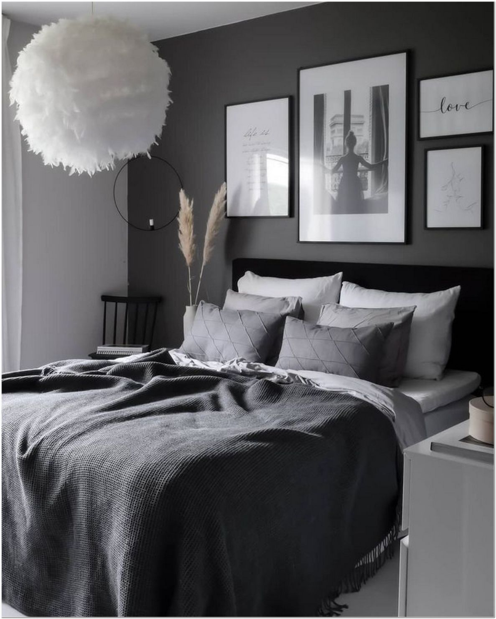 96+ grey and white bedroom ideas on a budget 17 in 2020 ... on Luxury Bedroom Ideas On A Budget  id=39444