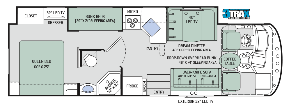 Wonderful Motorhome Plans #9: New 2018 ACE Floor Plans From The Top RV Brand. Find The Best Floorplans  For You With A Range Of Lengths And Sizes Of This Of Class RV.