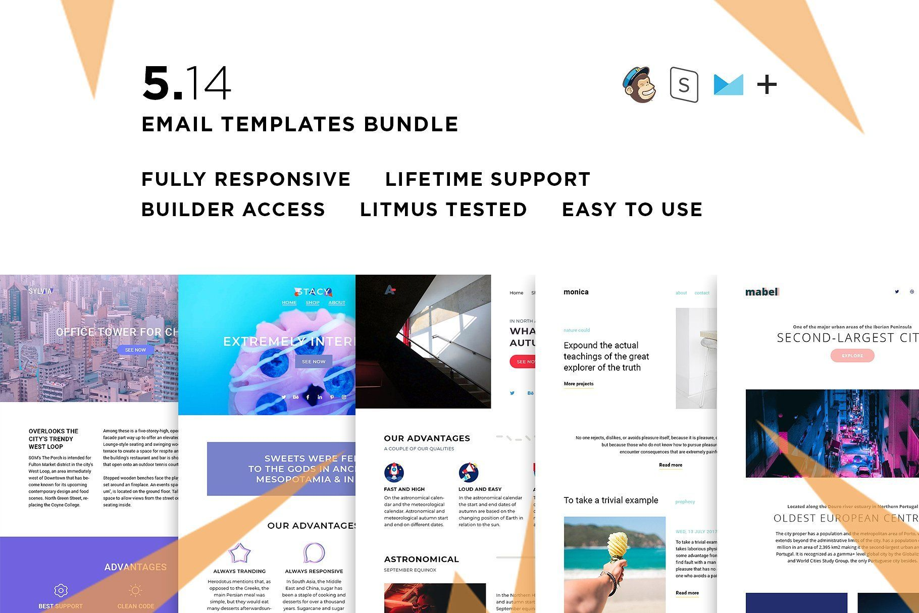 5 Email Templates Bundle Xiv Email Templates Templates