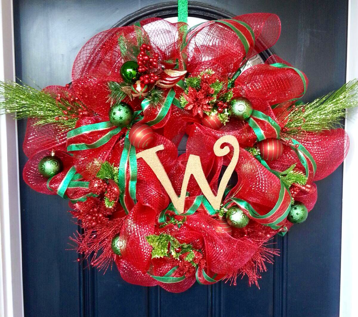 The wreath I made for my parents