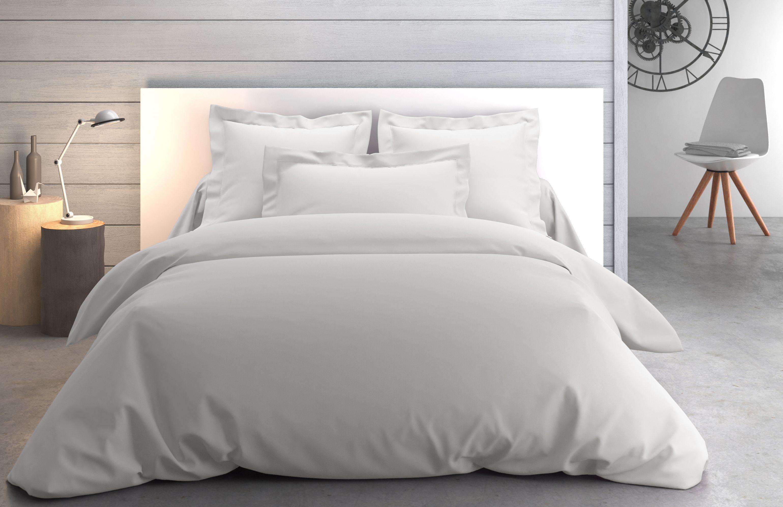 linge de lit uni vexin tourterelle par anne de sol ne. Black Bedroom Furniture Sets. Home Design Ideas
